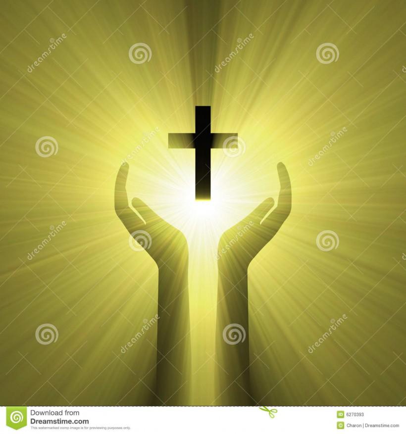 lumière-de-croix-d-un-dieu-d-étreinte-de-main-6270393