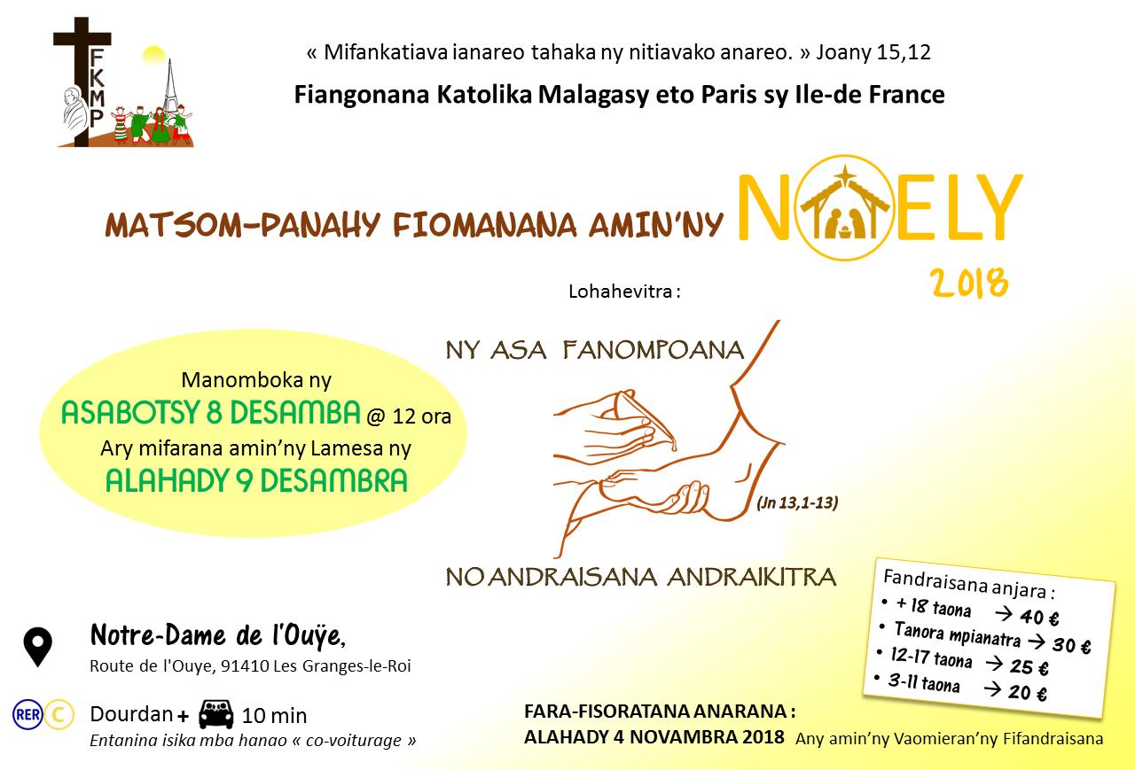 Matsom-panahy NOely 2018 - Fiangonana Katolika Malagasy Paris