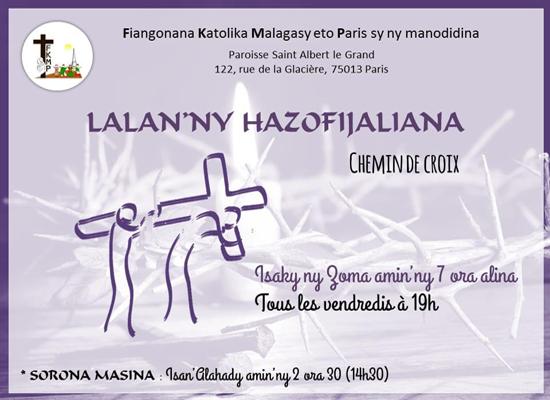 Karemy 2019 Eglizy katolika Malagasy Paris
